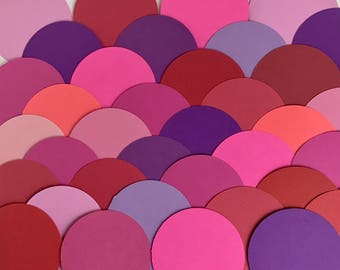 "36 Cardstock Circles: 3"" diameter, tonal assortments"
