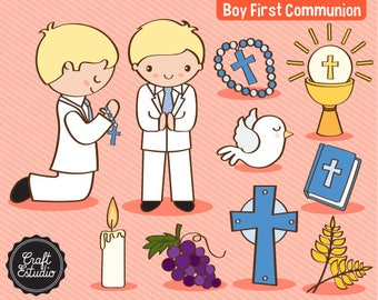 First Communion, first comunion, Boy, Catholic, Instant Download, Digital Paper, Clipart, High resolution, JPG scrapbooking, PNG Clipart