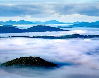 Adirondack Mountain Landscape, Mountain Photo, Fine Art Print, Landscape Photo, Country Living, Gift Idea, Forest Landscape, Home Decor