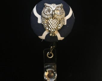 SilverOwl Majesty -Nurse Retractable ID Badge Reel/ RN Badge Holder/Doctor Badge Reel/Nurse Badge Holder/Nursing Student Gifts