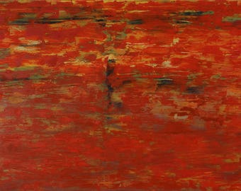 Oil painting layers red abstract art canvas art painting