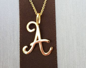 14K Gold Necklace with Initials. Name necklace. Personalized Jewelry. Layered necklace.