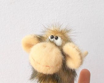 Monkey. Penlight theater. Finger puppets. Thimble. Little animal. Small toy.