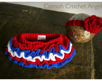 Red, white and blue baby/toddler tutu and headband