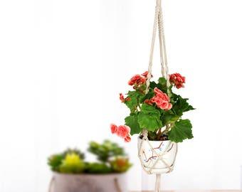 Macrame Plant Hanger, Indoor Hanging Planter, Macrame Plant Holder
