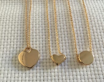 Dainty gold fill necklace