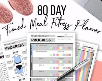 80 Day Timed Meal Fitness Planner