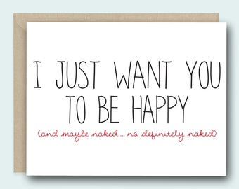Greeting Card   Naughty Card   Card for Boyfriend   Anniversary Card   Valentines Card   Funny Valentine Card   Love Card   Funny Love Card