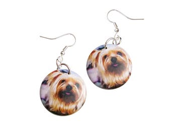 Yorkie Yorkshire Terrier Earrings - Dog Puppy Jewelry Gift