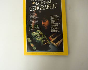 jade stone on national geographic magazine cover issue,sept 1987,plus other stories