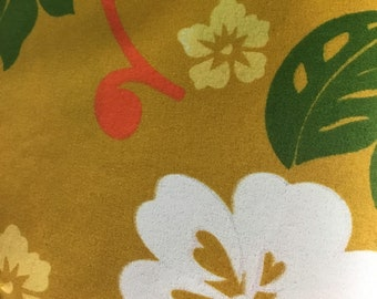 Hawaiian floral fabric