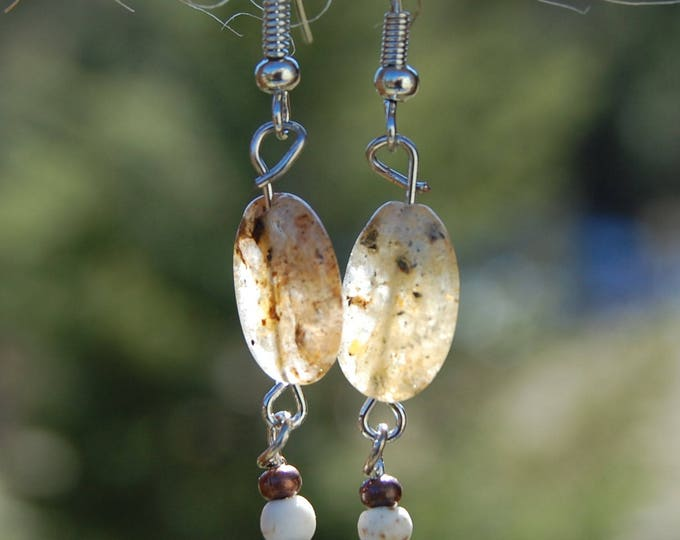Citrine & Copper Beaded Earrings