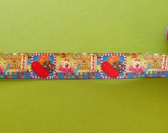 Candy Crush inspired 22 mm 7/8 grosgrain ribbon