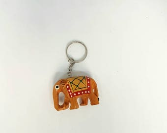 Elephant keyring, wooden key chain, new home gift,indian Elephant Keychain, Elephant Gift, Gift For Her, Elephant Charm, Keyring