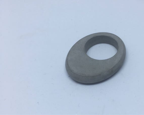 Concrete Ring - Oval // Statement Ring // Architectural Ring // Brutalist Ring