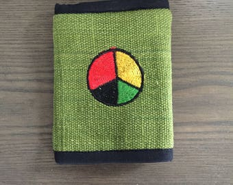 Cotton Peace Velcro Wallet, new old stock