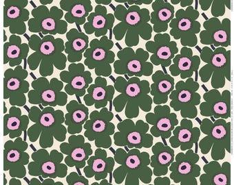 Marimekko Window curtain | Marimekko Pieni Unikko green curtain | green pink curtain | Nursery curtain | Floral curtain | bespoke curtain