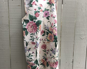 Floral Japanese Apron made in USA/ Ready to ship