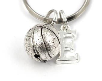 Basketball Key Ring, Personalized Basketball Keychain, Basketball Team Gift Keyring, Initial Keychain,Sports Keychain,Basketball Player Gift