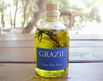 100 pcs Italian Style Olive Oil Favors (60ml / 2oz), Olive Oil Wedding Favors, Olive Oil Baby Shower Favors, Olive Oil Bridal Shower Favors