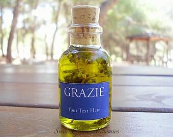 25 pcs Italian Style Olive Oil Favors (25ml/0.85oz), Olive Oil Wedding Favors, Olive Oil Baby Shower Favors, Olive Oil Bridal Shower Favors