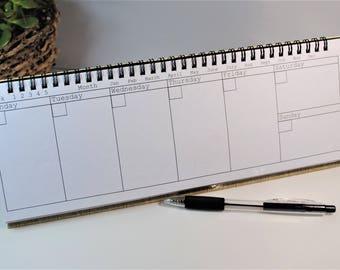Week at a glance, desktop, calendar.