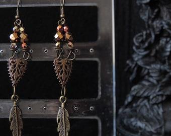 """Precious Feather"" earrings"
