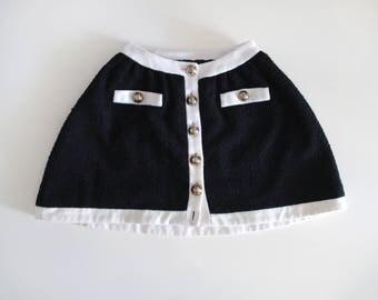Moschino Cheap&Chic vintage 90s boucle mini skirt