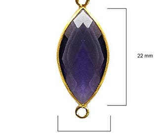 AMETHYST MARQUISE 11X22 mm gold double q