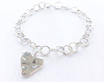 DAISYV Sterling Silver Handmade Charm Bracelet