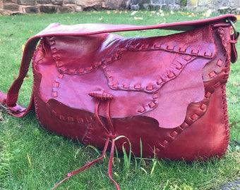 Leather shoulder bag, handmade leather bag, womens bags