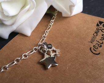 Stars bracelet, Christmas stars jewellery, christmas gift, festive jewellery, Stocking Filler.