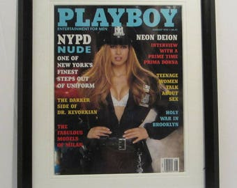Vintage Playboy Magazine Cover Matted Framed : August 1994 - Carol Shaya
