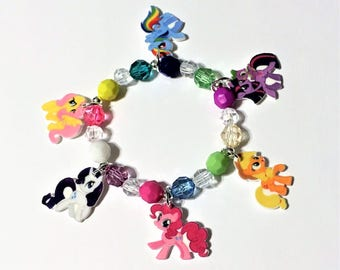 My Little Pony Charm Bracelet, My Little Pony Charm Necklace, My Little Pony Party Favors, My Litte Pony Jewelry, My Little Pony Birthday