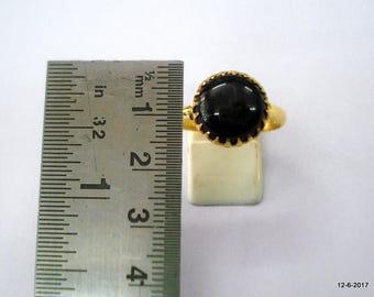 vintage 20kt gold ring Black Star gemstone ring handmade gold jewelry