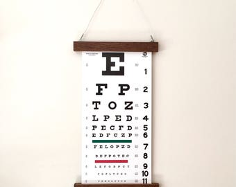 Reclaimed Wood Eye Chart | Unique Wall Art | Modern Art | Industrial Art
