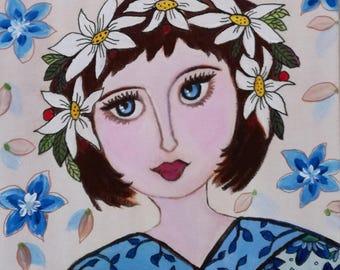 Kalinka - portrait - girl - Slave - acrylic