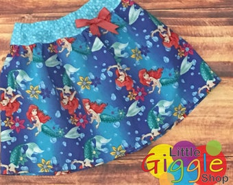 Little Mermaid Birthday, Little Mermaid Skirt, Little Mermaid Dress, Little Mermaid Party, Disney Princess Skirt, Princess Ariel, Handmade