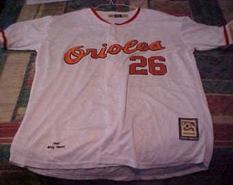 Boog Powell signed Baltimore Orioles baseball throwback jersey