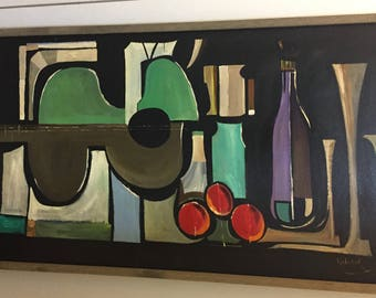 Original Mid Century Modern Oil Painting