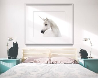 Unicorn print, PRINTABLE art, Girls room decor, Nursery decor, Animal print, Horse print, Unicorn art, Unicorn decor, Unicorn poster, Large