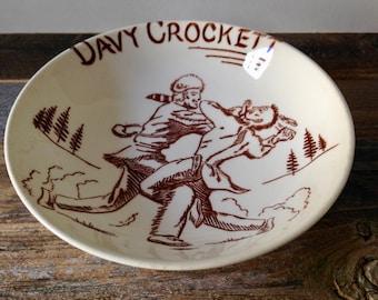 vintage Davy Crockett bowl