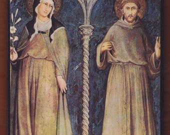 St. Clare of Assisi & St. Francis.FREE SHIPPING