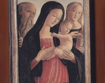 Neroccio De' Landi (1447-1500) Madonna and Child Saint Jerome and Mary Magdalene.FREE SHIPPING