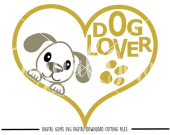 Dog lover svg / dxf / eps / png files. Digital download. Compatible with Cricut and Silhouette machines. Small commercial use ok.