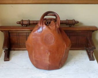 Spring Sale Bojola 'The Original Saddler' Bag With Drawstring Closure- Made In Florence Italy- Very Cool -VGC- Rare Bag