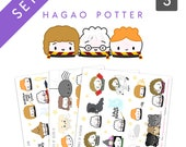 """All Books - Set Of 3 - """"Hagao Potter"""" Stickers - Books 1, 2, and 3 [Harry Potter, Wizard Stickers, Magic] - S110, S111, S112"""