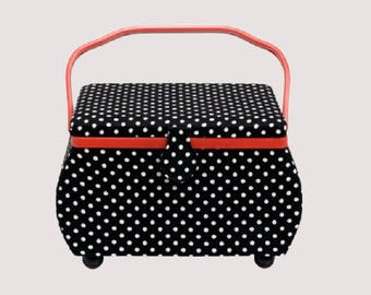 In Stock retro sewing box!