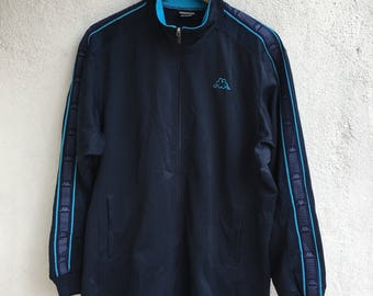 Vtg KAPPA Track Suit Top Sweater Jacket Size O / L
