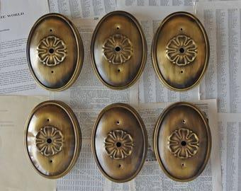 Flush mount ceiling lights Set of 6 ornate brass ceiling lights Vintage decor
